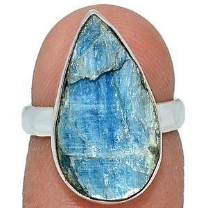 Paraiba Blue Kyanite 925 Ring Size 6